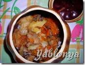 тушеные овощи, жаркое в горшочках