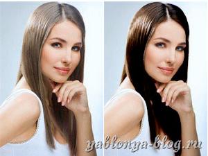 Онлайн сменить цвет волос