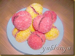 песочное пирожное, пирожные персики, персики из теста, песочное тесто, пирожное корзиночка
