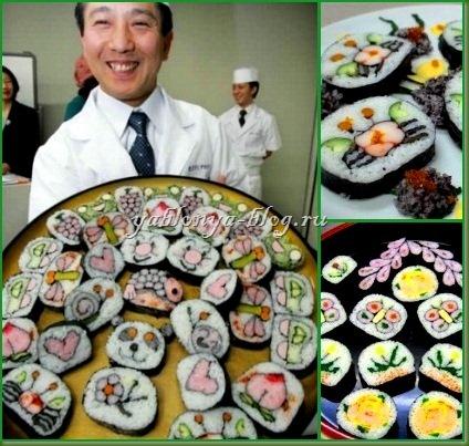 необычные формы, необычные суши, редкие продукты