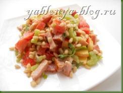 салат с сельдереем и яблоком, рецепт салат с сельдереем, салат из сельдерея стеблевого, салат с кедровыми орехами, новые вкусные салаты, цитрусовая заправка