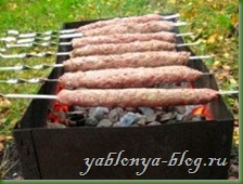 рецепт люля кебаб, кебаб с луком, турецкий кебаб, домашний кебаб