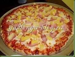 рецепт вкусной пиццы, пицца с ананасами, гавайская пицца, американская пицца, рецепт пицца с ананасами, рецепт пицы, тесто для пиццы,  пицца на толстом тесте